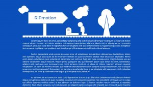 RIPmotion - A Dramatic CSS3 Animation